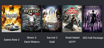 Купить Risen 2, Sacred 2 Gold, Saints Row 2, Dead Island GOTY and Saints Row: The Third - The Full Package