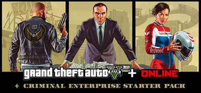 Купить Grand Theft Auto V + Criminal Enterprise Starter Pack
